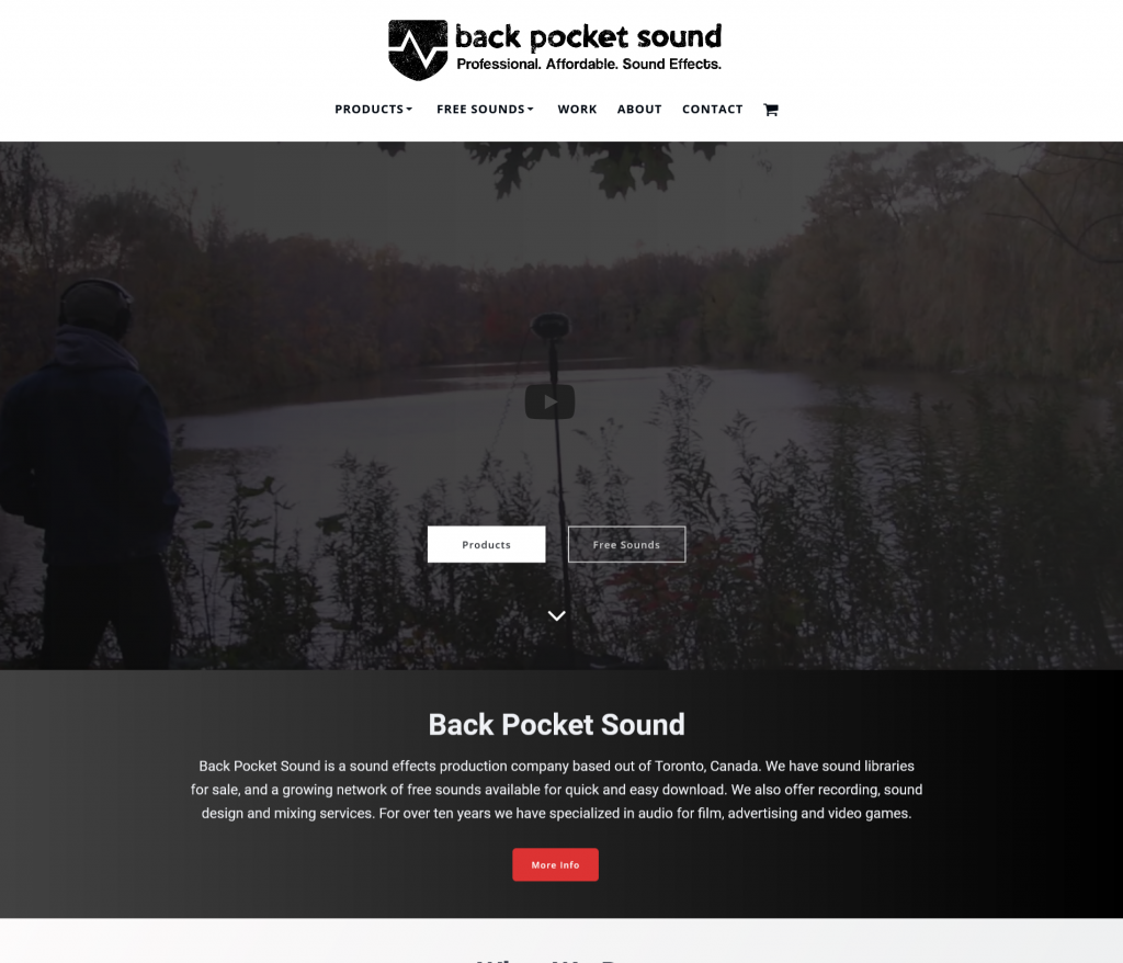 Backpocket Sound Homepage video